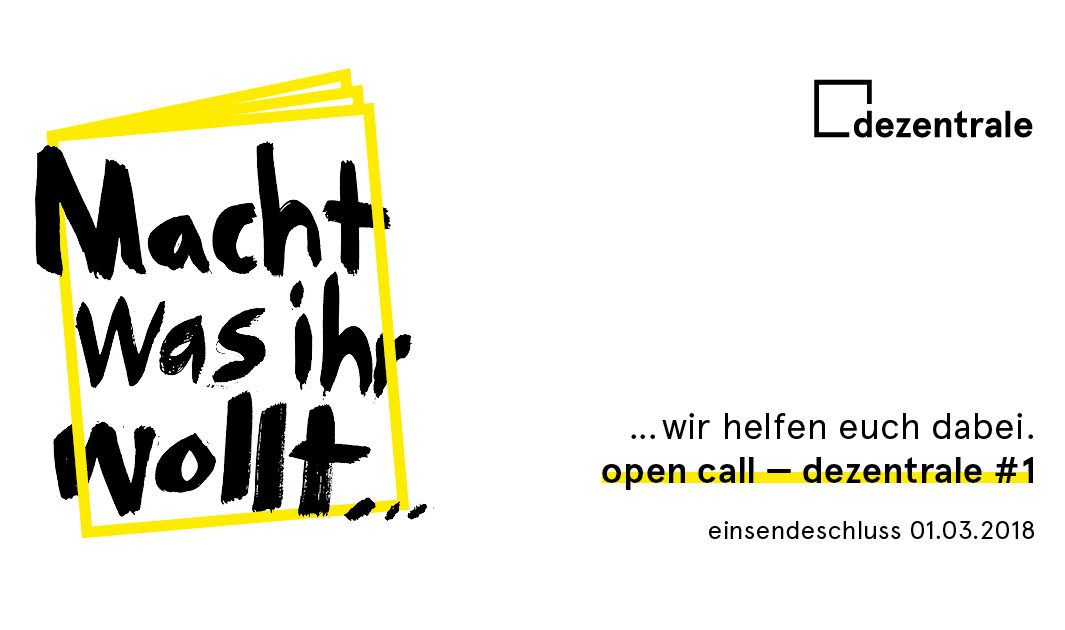 dezentrale no. 01 - open call