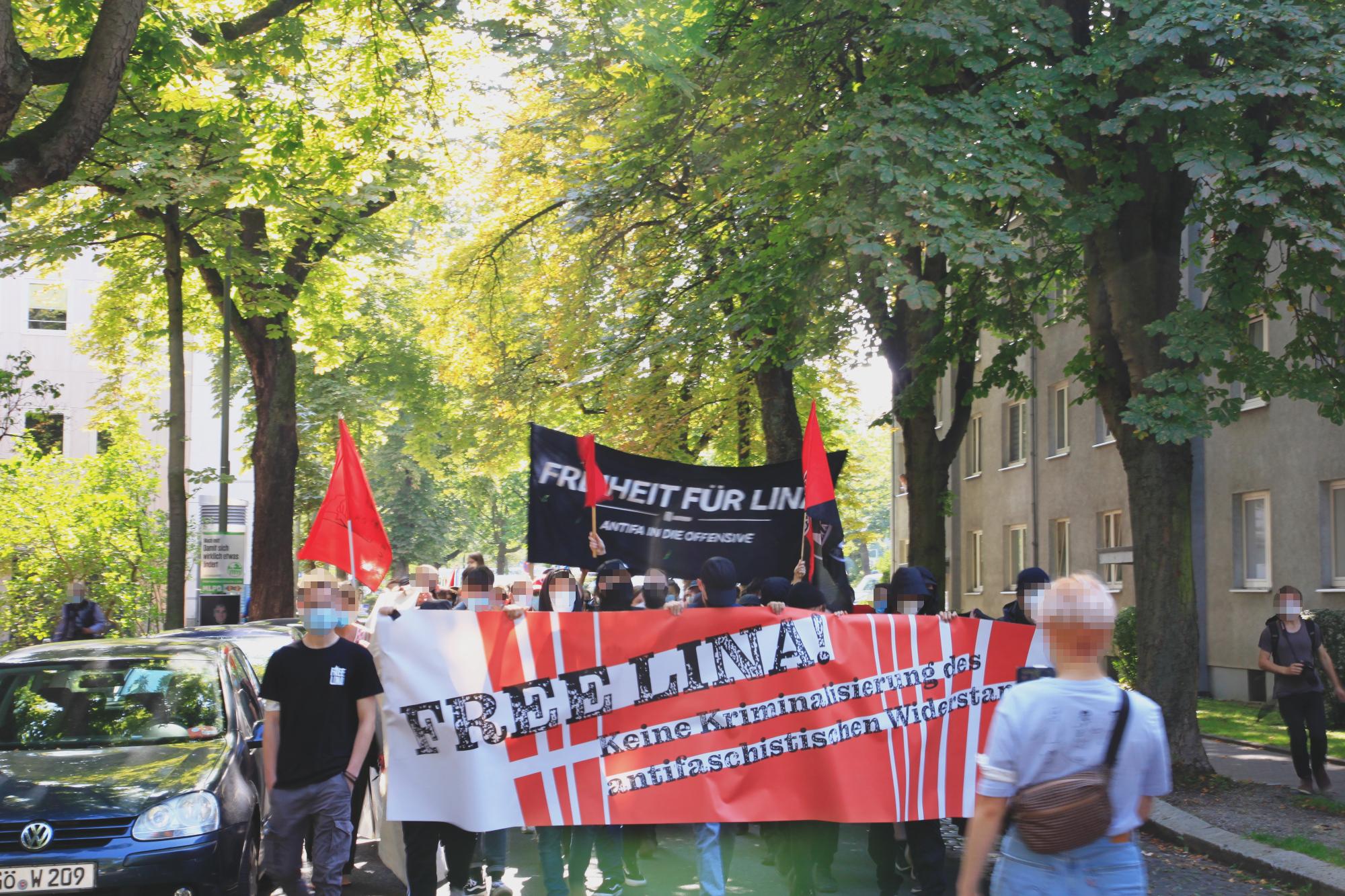 Freiheit für Lina Demonstration in Kassel am 04.09.2021